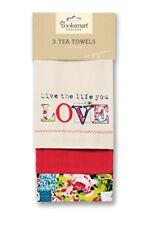 Cooksmart 3 pk Tea towels, Oriental Patchwork