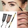 1 Set Brown Waterproof Tint Eyebrow Henna With Mascara + Eyebrows Paint Brush JT