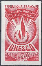 SERVICE N°39 DROITS DE L'HOMME ESSAI COULEUR ROUGE PROOF IMPERF 1969 NEUF ** MNH