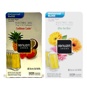 Renuzit Electric Gel Refill Choose Your Scent 6 Pack (2 Units Per Pack) 12 Total