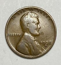 1938 D Lincoln - Wheat Ears Reverse 1 Cent Repunched Mintmark Error Coin  (3828)