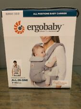 New in Box Ergobaby Bcs360Gry Omni 360 All-In-One Baby Carrier - Pearl Grey