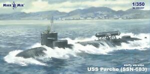 Mikro Mir 350-037 SSN-683 Parche (early version) 1/350 scale