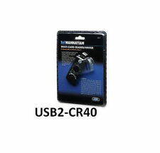 Manhattan 40-in-1 High-Speed USB 2.0 Mobile Multi-Card Reader/Writer, USB2-CR40