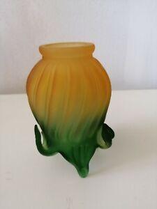 Vetro tulip di ricambio per lampada paralume applique abat-jour giallo verde