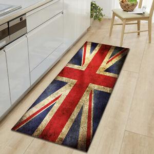 Union Jack Rug Nation Flag Mat Kitchen Mat Floor Carpet Non-Slip Runner UK Stock