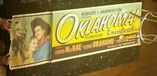 RARE MARQUEE POSTER FROM OKLAHOMA 1955 WESTERN MUSICAL 7' WIDE STORED ROLLED
