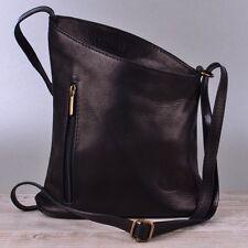 8be6baa4da27a Tasche Handtasche Echt Leder Schultertasche Umhängetasche Ledertasche  Schwarz