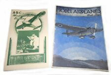 1930s & 40s Model Airplane Building and Flying Booklet Reprints - Set of 2