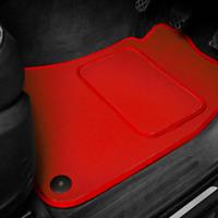 Red SUPER VELOUR Car Floor Mats Set To Fit Ford StreetKa (2003-2006)
