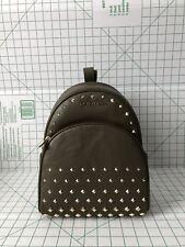Michael Kors Abbey Medium Backpack Pebbled Leather Stud Bag Olive