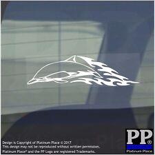 Dolphin Flame- Vinyl Sticker-Car Window Graphic Decal Sign Animal,Mammal,Aquatic