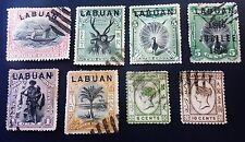LABUAN 6 (1894-96) Overprinted NORTH BORNEO Stamps part set and two other used