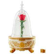 NEW Disney Beauty The Beast Live Action Enchanted Rose Jewelry Box Toy Ring