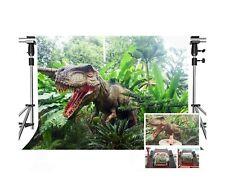 MEETS 7x5ft Jurassic Park Backdrop Dinosaur Green Plant Photography Backgroun...