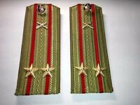 Shoulder straps officers epaulettes of the artillery colonel Soviet Army USSR