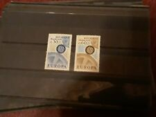 timbre france europa ** neuf n1521/2  1967