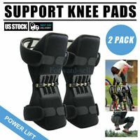 2pc Joint Support Knee Pads Non-slip Power Lift Rebound Spring Force USA Unisex~