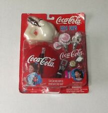 """Coca Cola 1998  """"Cola Caps"""" New Party Playset Bubbles Girl Toy"""