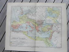 Antique map landkaart Roman Empire Rome Italia 1907