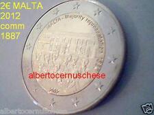 2 euro 2012 fdc MALTA Malte 1887 Maggioranza rappresentativa Мальта