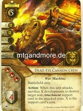 Warhammer Invasion - 1x Dead-Eye Cannon Crew  #046 - Battle for the Old World