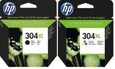 2x Original HP Tinte Patrone 304XL Deskjet 2620 2630 2633 3700 3720 3730 3732
