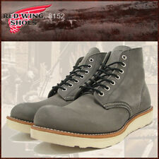 """Red Wing 8152 Men's 6"""" Classic Round Boot (Gray Rough&Tough Lthr, Traction Tred)"""