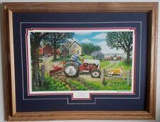 Framed Ford tractor farm art print Russell Sonnenberg