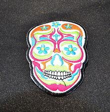 Ricamate, Sugar Skull, bianco, patch, Tatuaggio, aufbügler, Dia de los muertos, Mexico