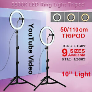 "10"" LED Studio Ring Light Photo Lamp Light for Youtube Tiktok Video Live+Tripod"