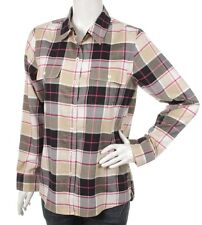 New PATAGONIA Organic Cotton Check Long Sleeve Shirt Womens Size M, US 8, UK 12