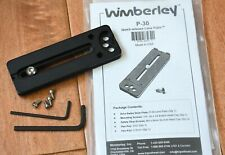 NEW WIMBERLEY P30 quick release plate for Lenses & accessories to RRS Arca Swiss
