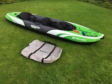 Sevylor Hudson Premium 3 Seater Inflatable Kayak || BUNDLE: life jackets & oars