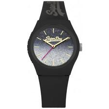 Superdry Urban Ombre Glitter Black Ladies Watch SYL179B