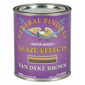 General Finishes Water Based Glaze Effects - 473ml - Pitch Black, Van Dyke Brown