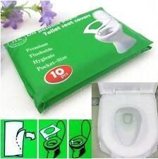 New 10Pcs/lot Disposable Waterproof Sterilized BHoilet Seat Paper Covers/Mat LE