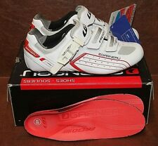 Mens Louis Garneau Pro Race Road Cycling Shoe White/Red 40 EU/US 6.5 NIB Carbon
