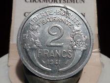 5097(3)(15) - 2 FRANCS - MORLON - ALU - 1941 - RARE QUALITE SUP+ !