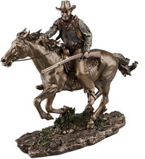 Large Bronze John Wayne Riding Horse Screen Legend Ornament - Father's Day Gift