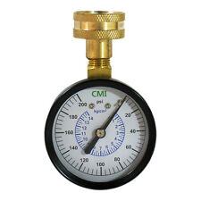 """200 PSI Water Pressure Gauge 3/4"""" FNPT Connection for Pipe Thread 2.5"""" 63mm Dial"""