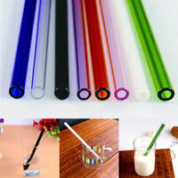Simple Reusable Straight Pyrex Glass Drinking Straw f/ Wedding Birthday Party