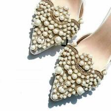 2pcs Pearl Flower Shoe Clip + Rhinestones Iron on Pearl Patch Badge Applique Kit