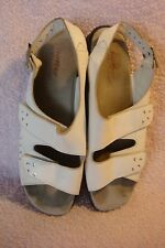 LADIES HOTTER SIZE 7 WHITE LEATHER SANDALS
