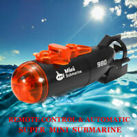 Mini RC Submarine Ship IR Remote Control & Auto Boat With Light Kids Toy Gift