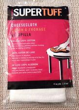Supertuff White Cheesecloth 100% Cotton 4 sq yd Gauze Muslin Cheese Cloth