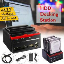 More details for external triple sata ide hdd docking station 3.5''/2.5''hard drive card reader