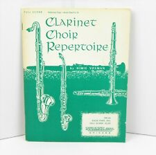 1962 Rubank 'Clarinet Choir Repertoire' Himie Voxman Full Score Reference Copy