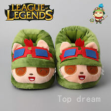 League of Legends LOL Teemo Plush Slipper Cosplay Unisex Shoes 11'' 28cm Gift