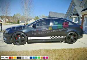 Sticker Decal Graphic Stripes for Chevrolet Cruze 08 -16 Mirror Sport lip trim